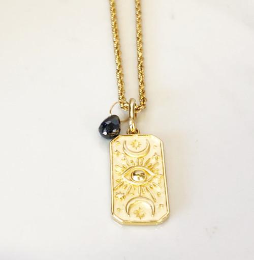 Iris Moon Gold Pendent