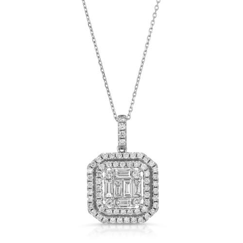 Diamond baguette pendent