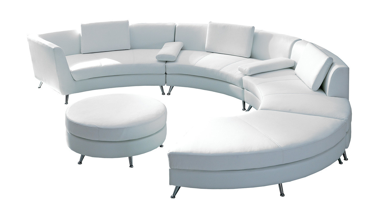 Quick Ship Ready 8004 2 In 1 White Modular Sectional Sofa With Ottoman Commercial Grade