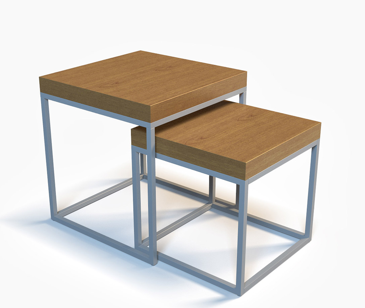 2 In 1 Nested Coffee Tables Fully Welded Steel Frame Made In Usa