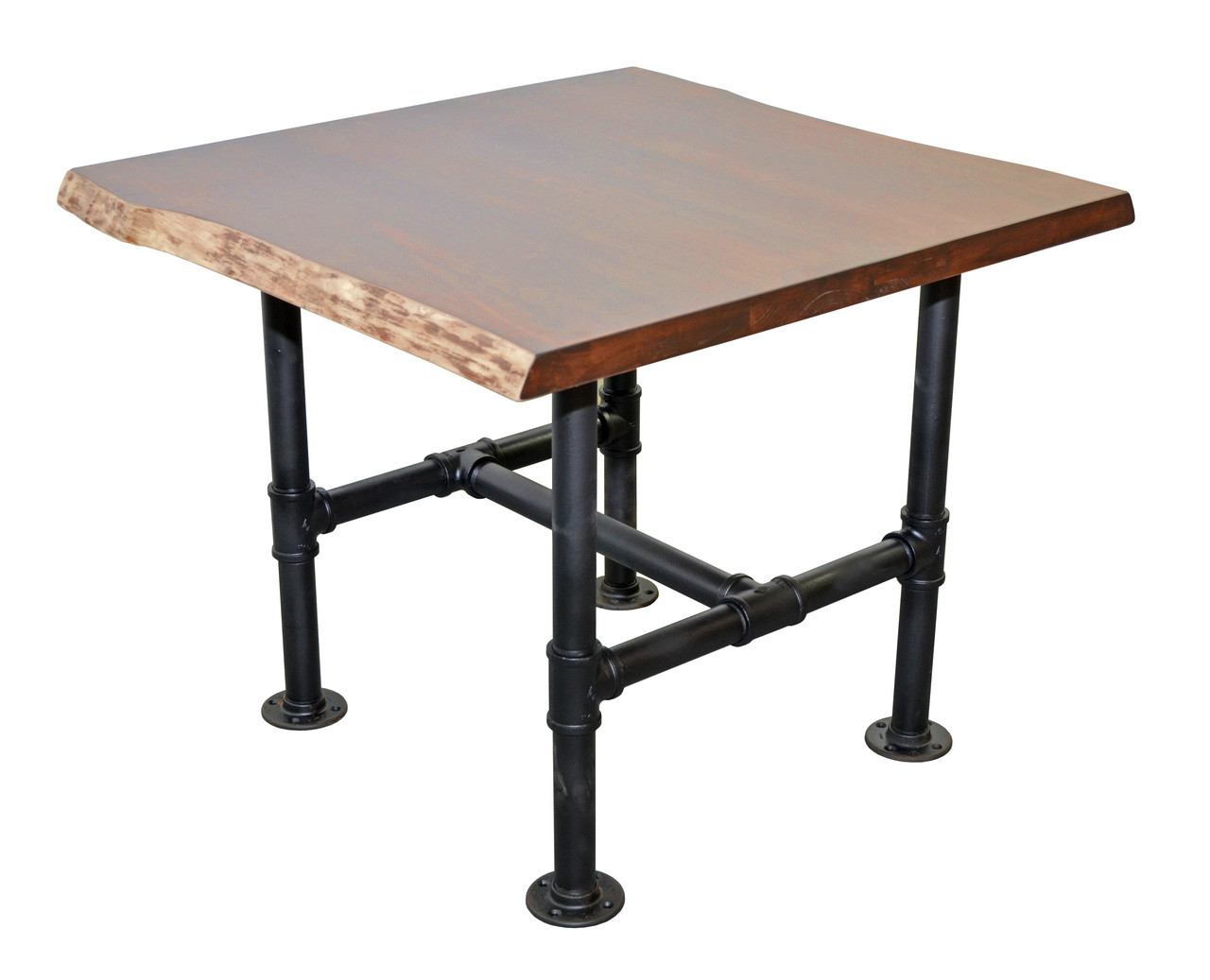 Peachy Exclusive Live Edge Maple Slab Restaurant Table Top On Custom Pipe Frame Made In Usa Download Free Architecture Designs Scobabritishbridgeorg