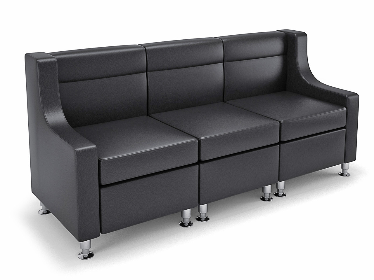 9070 Modular Sofa Seating With Privacy Arm Made In Usa