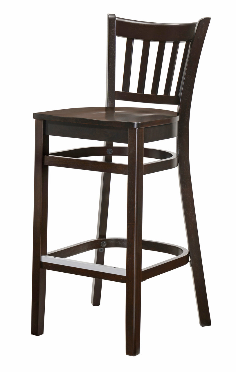 Phenomenal Saddle Seat Vertical Back Commercial Grade Bar Stool With Walnut Finish Beechwood Frame Alphanode Cool Chair Designs And Ideas Alphanodeonline