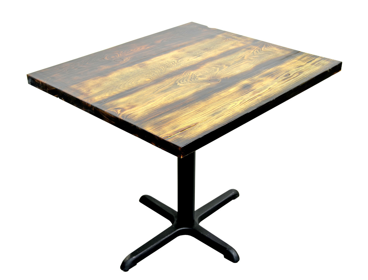 Reclaimed Wood Environmentally Friendly Wood Restaurant Table With Iron Cast Legs