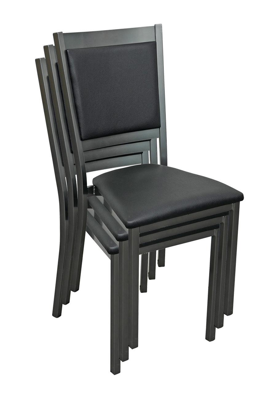 Pleasing Stacking Gunmetal Restaurant Chair With Commercial Grade Evergreenethics Interior Chair Design Evergreenethicsorg