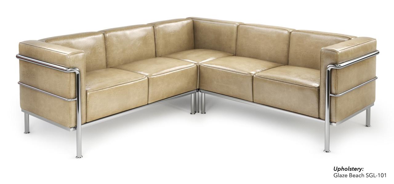Admirable St002 Le Corbusier Style 3Pc Sectional Sofa Machost Co Dining Chair Design Ideas Machostcouk