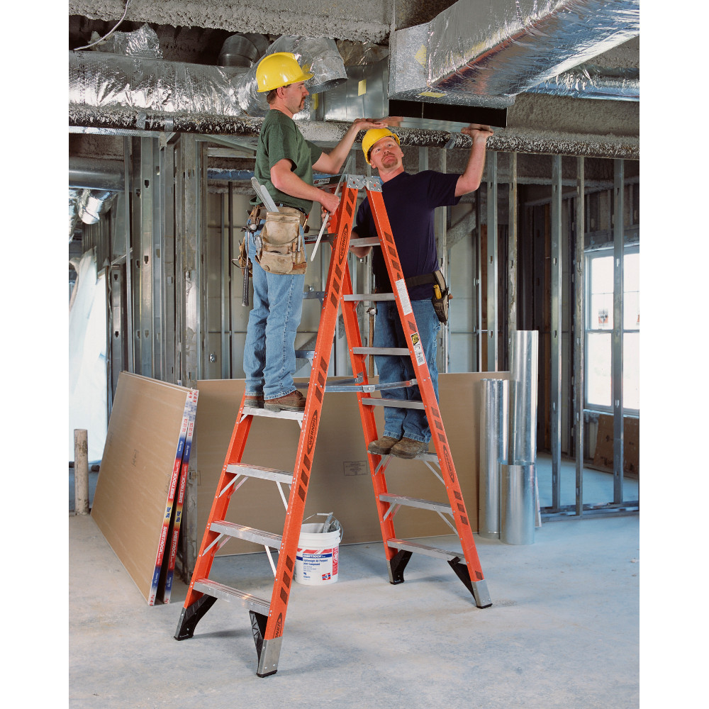 Werner T7400 Series Twin Sided Stepladder 375 Lb Rated
