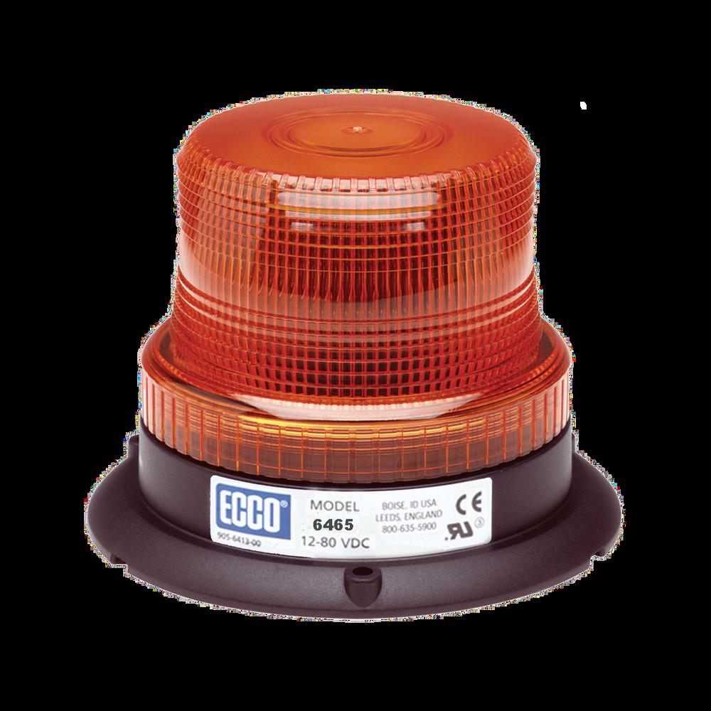 ECCO 6465 LED Beacon: Low profile, 12-80VDC, Pulse8 Flash, Amber