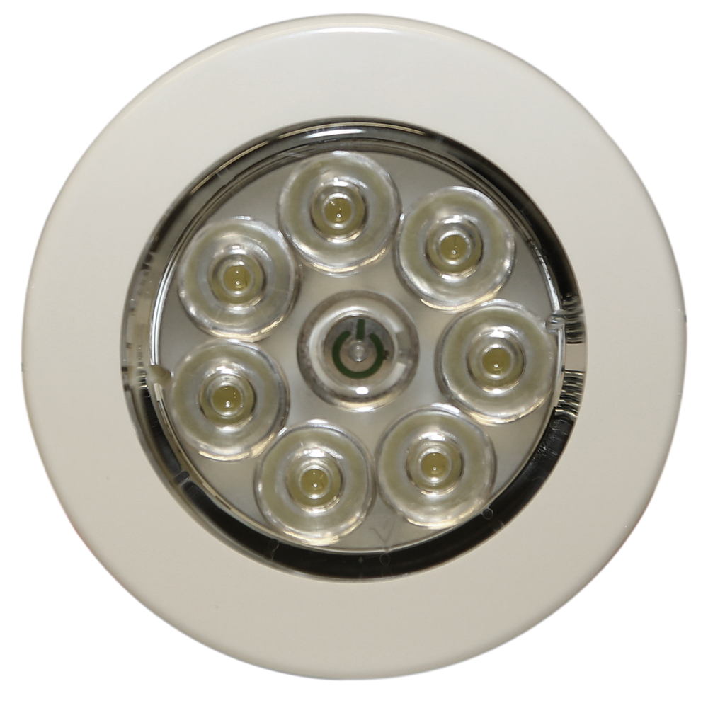 ECCO EW0210 LED Interior Light: Circular, Flush Mount, 12V, White
