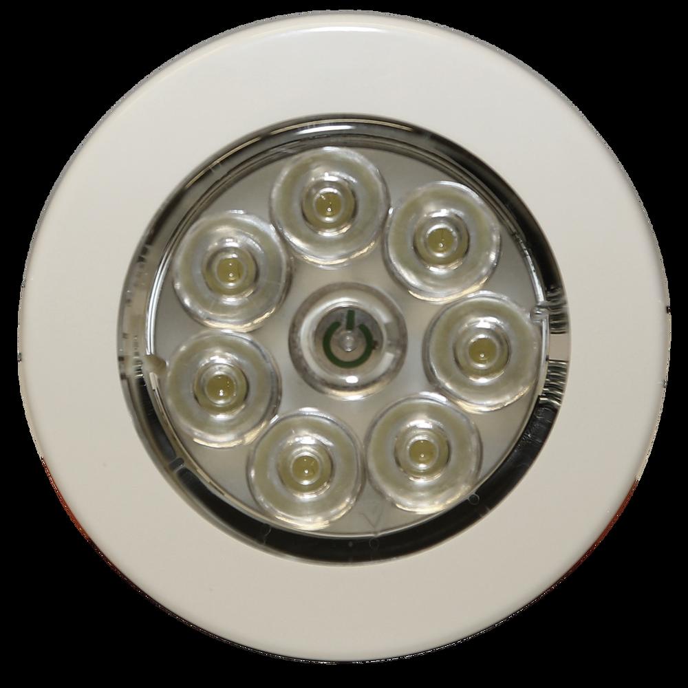 ECCO EW0210 LED Interior Light: Circular, Flush Mount, 12V, White