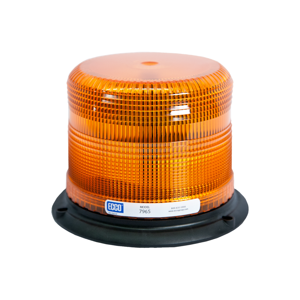 ECCO 7965A LED Beacon Light: Pulse-II, Low Profile, 12-24 VDC, 11 Patterns, Amber