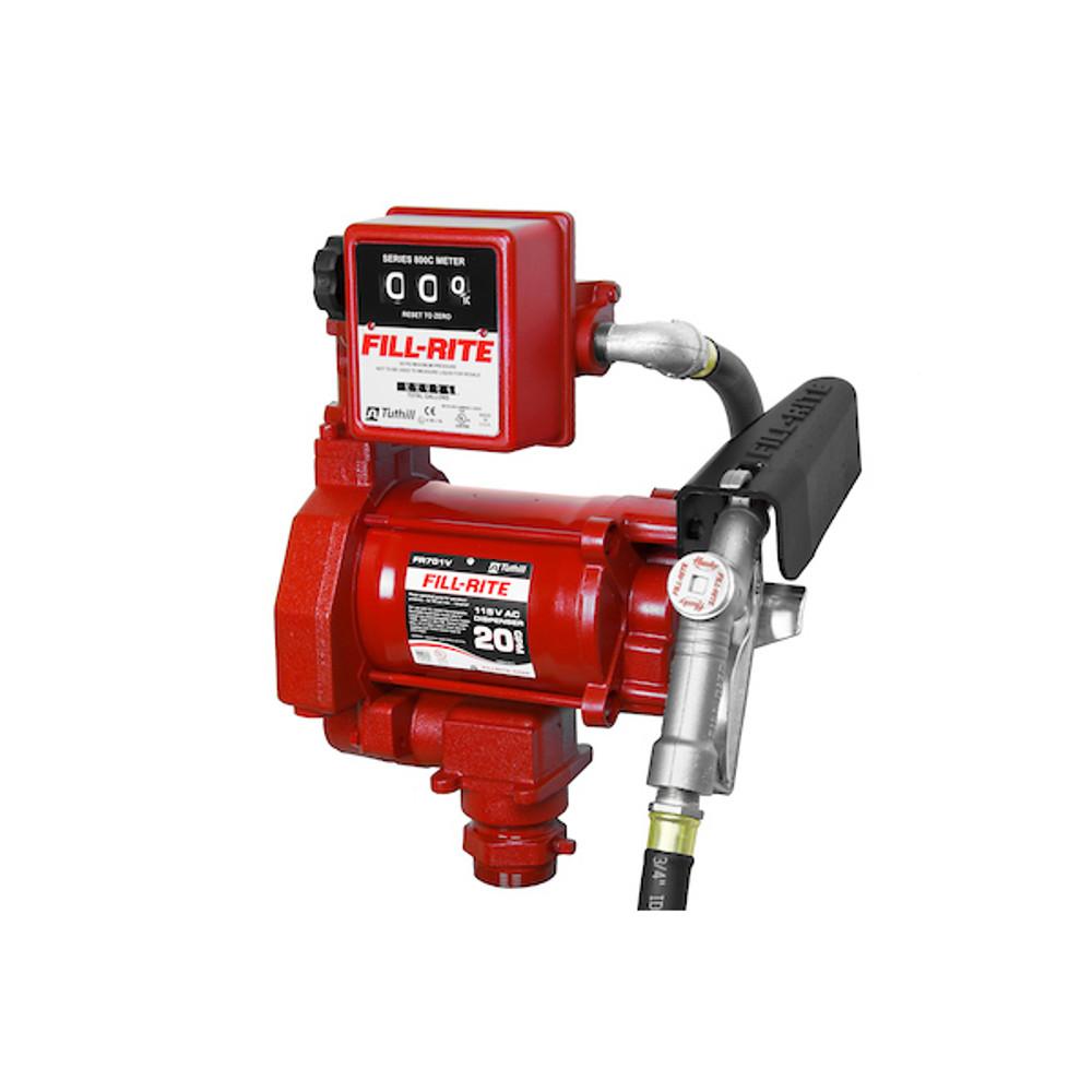 Fill-Rite FR701V 115 Volt AC Pump with 807C Gallon Mechanical Meter