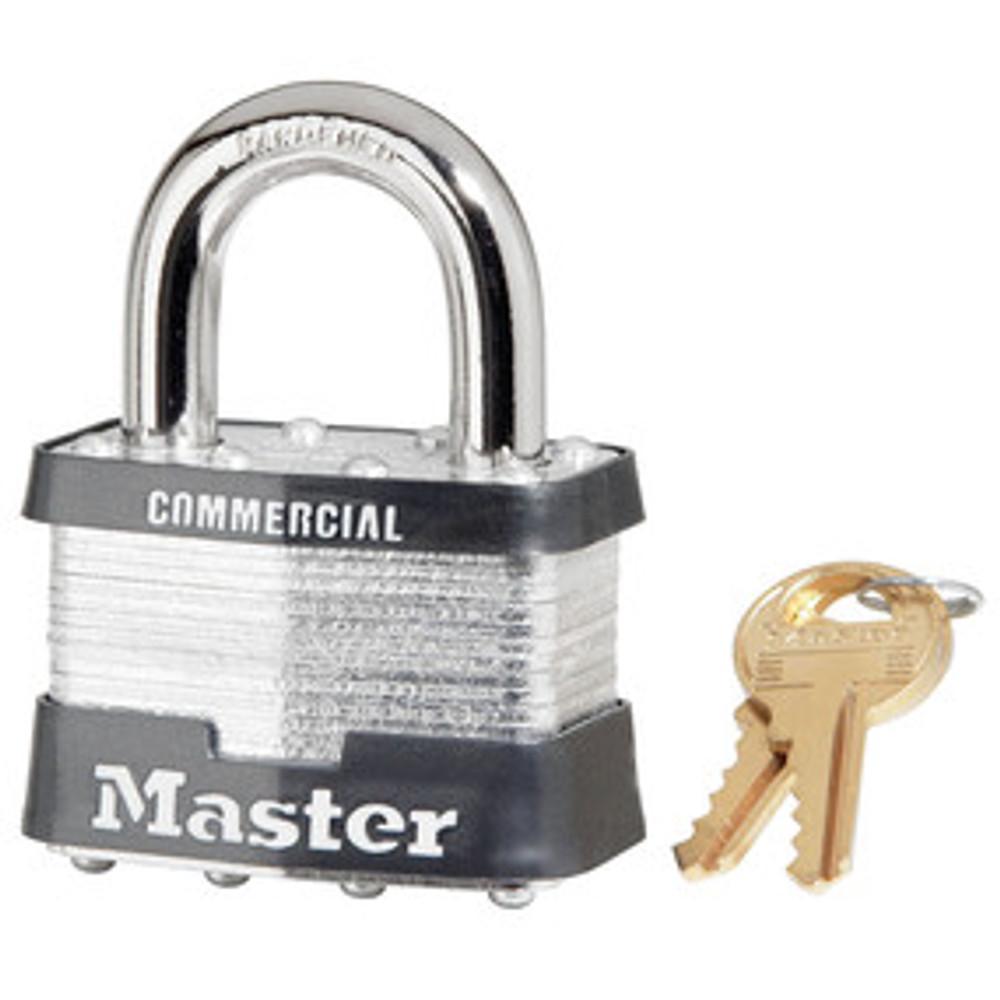 Master Lock 5KA 2in (51mm) Wide Laminated Steel Pin Tumbler Padlock, Keyed Alike