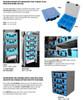 Adrian Steel #PPCS Small Portable Parts Case, Blue