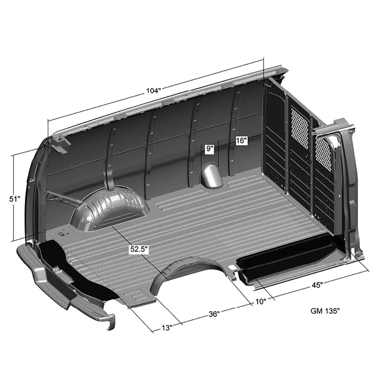 *** GM Van Dimensions
