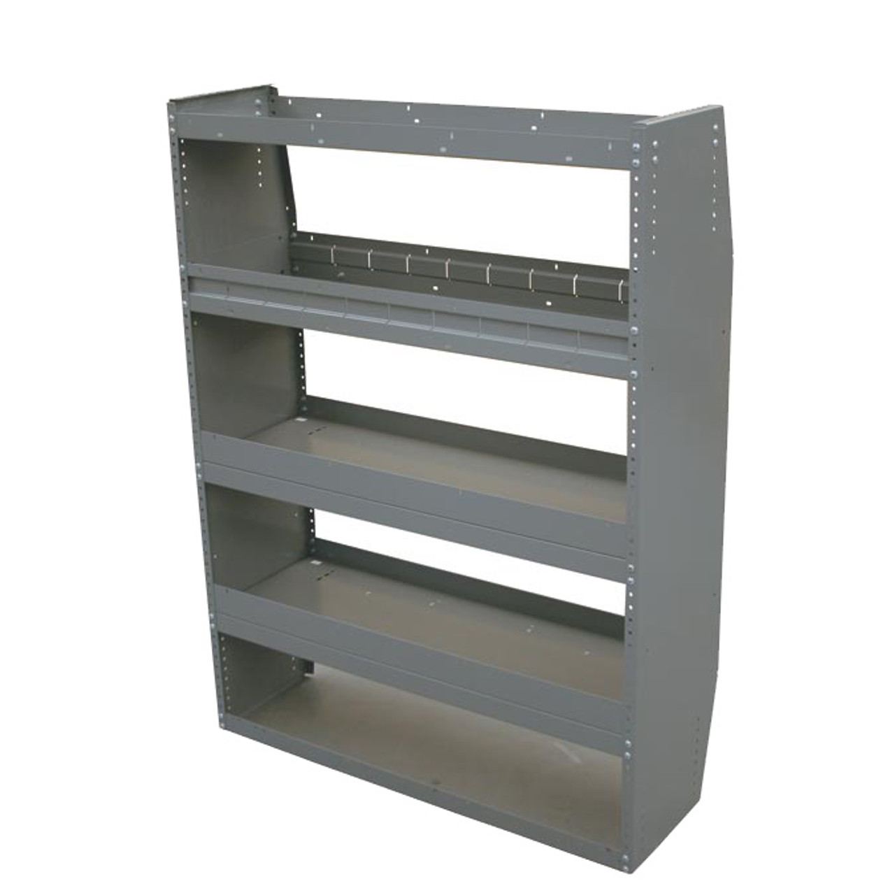 "36/""W x 36/""H x 12/""D Adrian Steel MD523 Open End Adjustable Shelf Unit"
