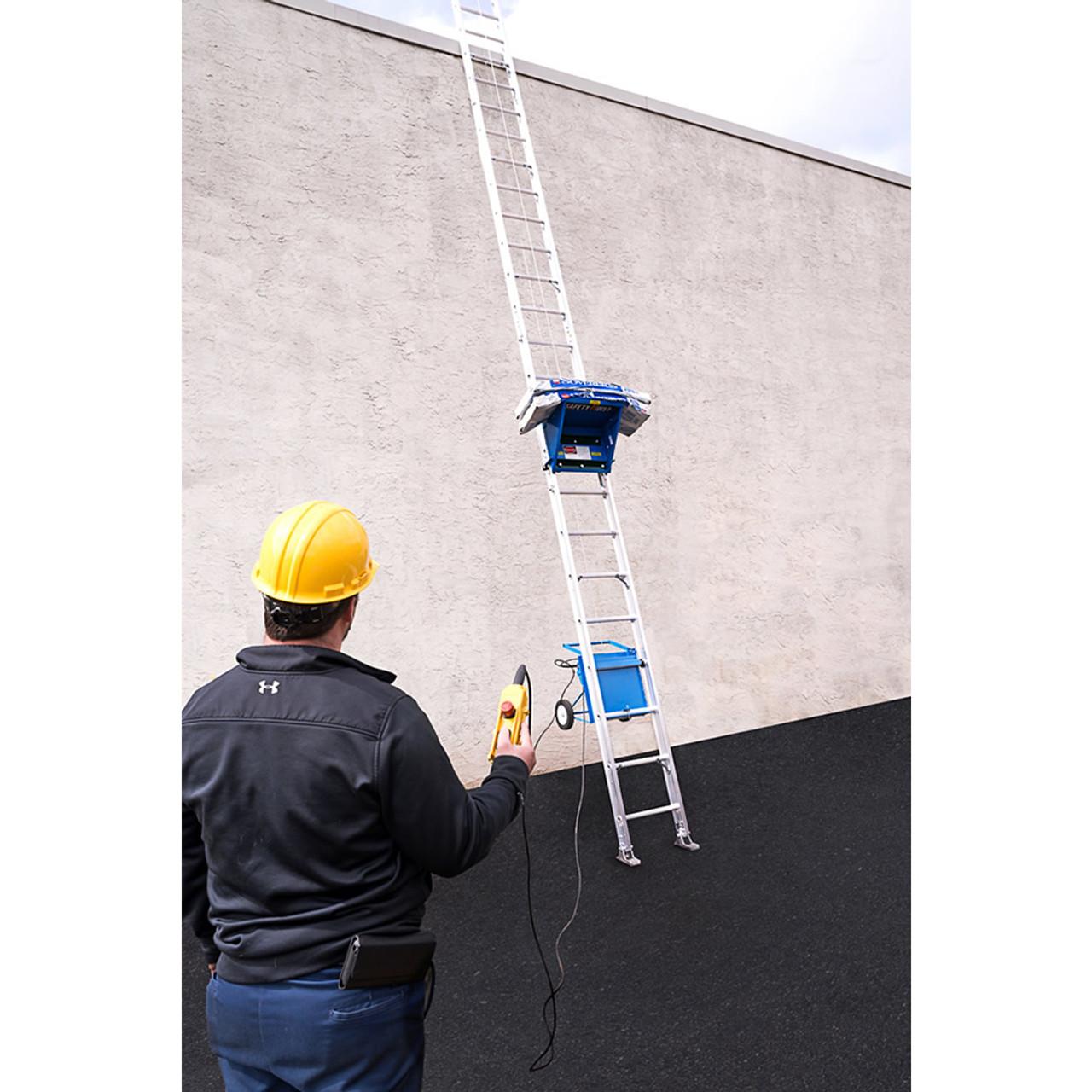 Safety Hoist Platform Hoist 28 ft  w/ Electric Engine - 250 lb  Capacity