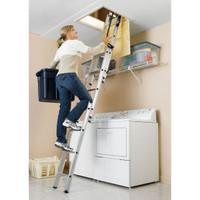 Werner AA1510B - Aluminum Small Opening Aluminum Attic Ladder | 250 lb Rating