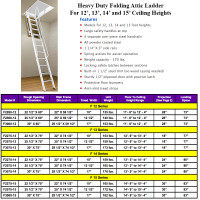 Rainbow F-Series Steel Attic Ladders - 15' Heights