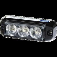 ECCO 3735A Directional LED: Rectangular surface mount, 12VDC, 11 Flash patterns, Amber