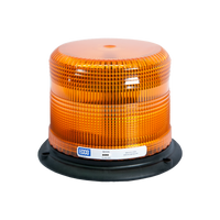 ECCO 6650A Strobe Beacon: Low Profile, 12-24VDC, 8,12,13, or 17 joules, Double or Quad Flash, Medium or High intensity, Amber