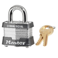 Master Lock 3KA 1-9/16in (40mm) Wide Laminated Steel Pin Tumbler Padlock, Keyed Alike