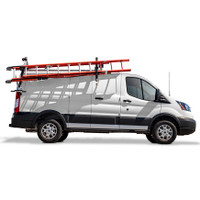 Adrian Steel #DDLR61FTL Passenger Side Drop Down Ladder Rack, Transit Low Roof