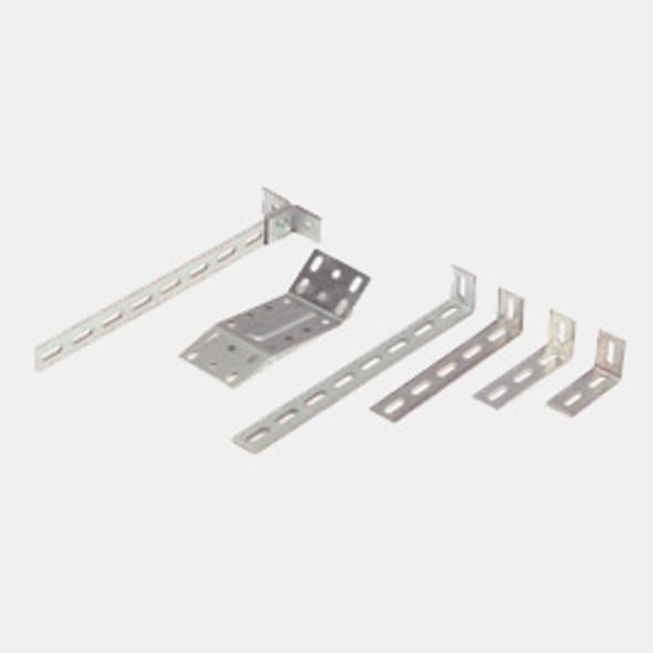 Adrian Steel #MB114 L-Bracket, 1x8 Slot, 1.3w x 12.2h x 1.7d
