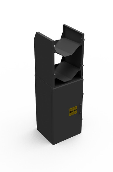 Adrian Steel #MD538 Tank Rack Cabinet Assembly, (2) Racks, 15w x 48h x 14d, Gray
