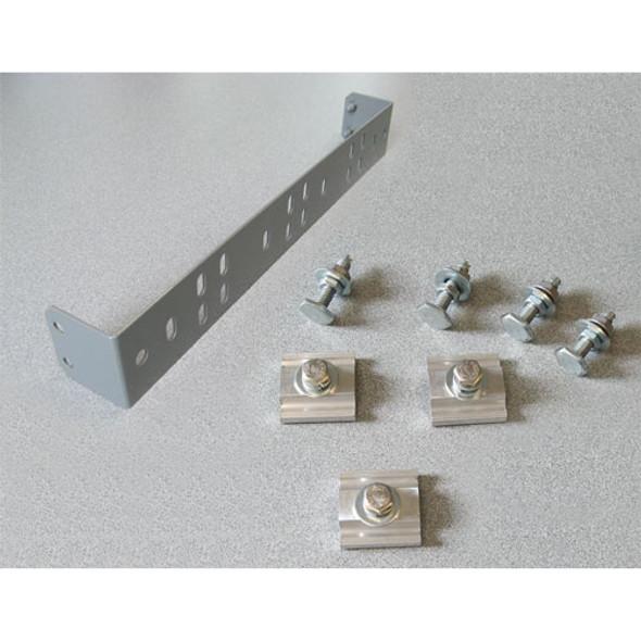 Adrian Steel #RKABRK1 Single Adapter Bracket for Rail Kit, Gray