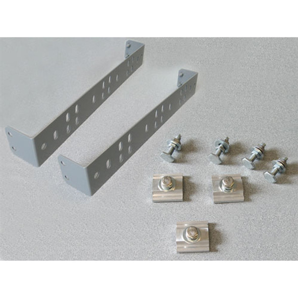 Adrian Steel #RKABRK2 Double Adapter Brackets for End Panel, Gray