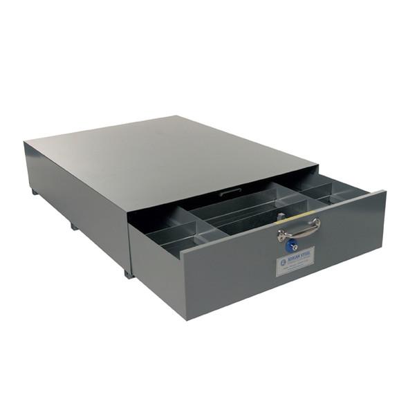 Adrian Steel #SA-40 Triple Compartment Floor Drawer, 40w x 12h x 51.5d, Gray
