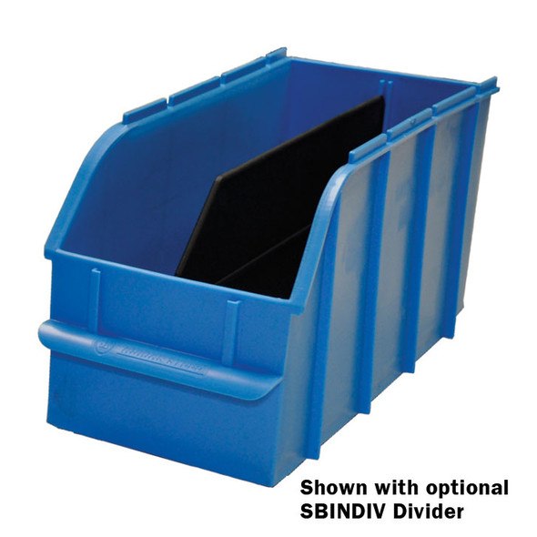 "Adrian Steel #SBIN060614 Snap In Bin, 6"", 6w x 6.5h x 13d, Blue"