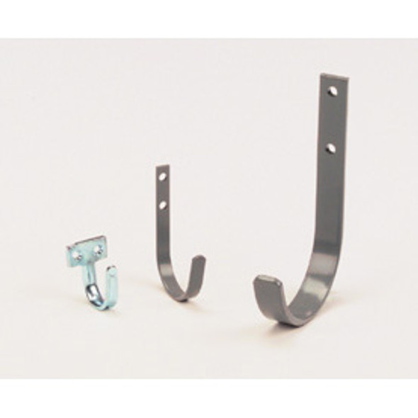 Adrian Steel #UH25 Utility Hook, 2.5'', 0.5w x 4.3h x 2.3d, Gray
