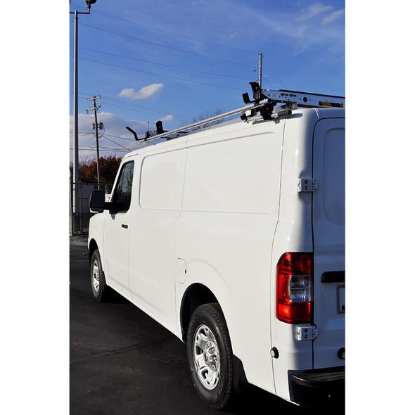 Adrian Steel #4957 - Grip Lock Ladder Rack & Partition Starter Package, Gray, NV Low Roof