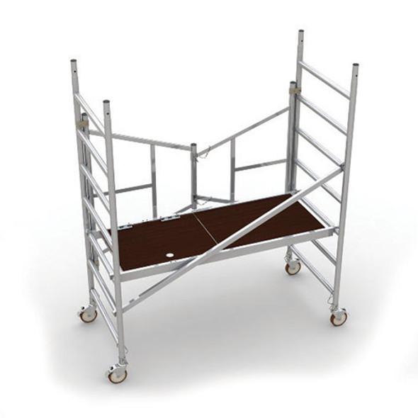MetalTech AL-Q0100 6′ EASY-SET Aluminum Scaffold - Foldable Base