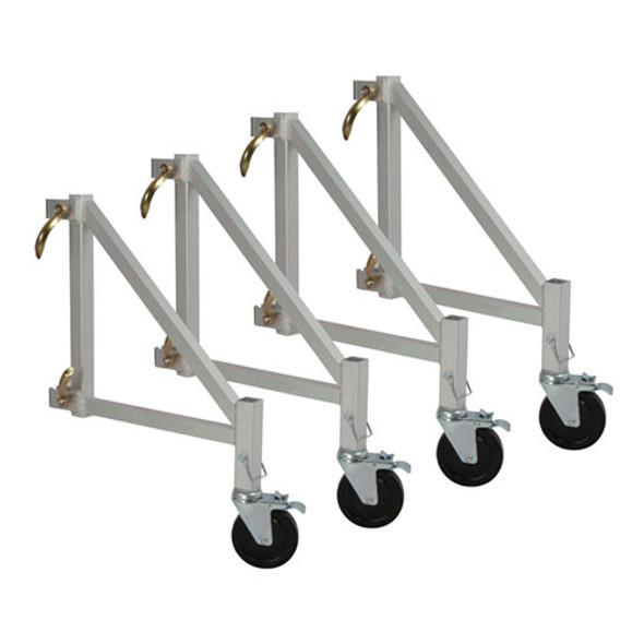 MetalTech I-CAISO4 Set of 4 Outriggers with Casters