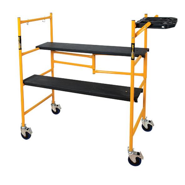 MetalTech I-IMCNAT JOBSITE Series 4′ Scaffold w/Tool Shelf   500 lb. Capacity