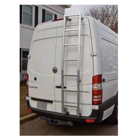 "Prime Design Roof Ladder AAL-8003 Mercedes Sprinter | 111"" High Roof / Bright Aluminum"