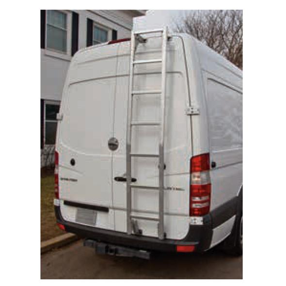 "Prime Design Roof Ladder AAL-8012 RAM ProMaster | 90"" Low Roof / Bright Aluminum"