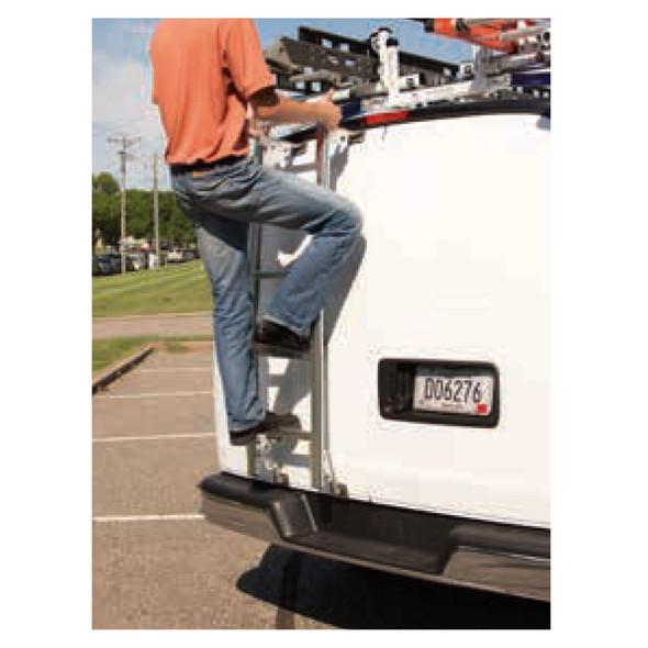 "Prime Design Roof Ladder AAL-8015 Chevrolet Express & GMC Savana | 84"" Low Roof / Bright Aluminum"