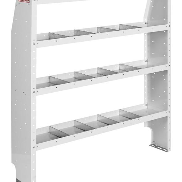 Weather Guard Model 9375-3-03 Adjustable 4 Shelf Unit, 52 in x 60 in x 13-1/2 in