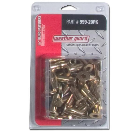 Weather Guard Model 999-20PK 5/16 in Blind Fasteners for rigid fastening to sheet metal, fiberglass, & plastics
