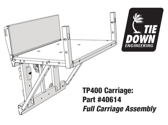 TranzSporter 40614 Full Carriage Assembly for TP400