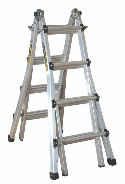 MetalTech E-MTL Aluminum Telescoping Multi-Purpose Ladders | 300 lb. Rating