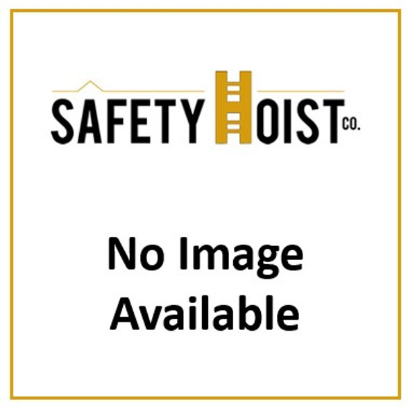 "Safety Hoist CH-A003 4' Track section w/ splice plates (17.25"" x 3.0"" x 48"" long)"
