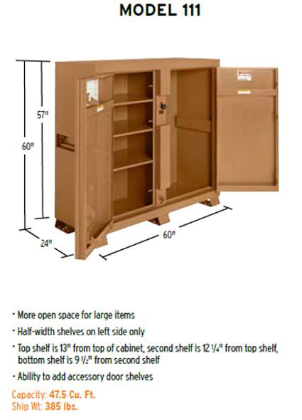 Knaack Model 111 JOBMASTER Storage Cabinet Half Width Shelves