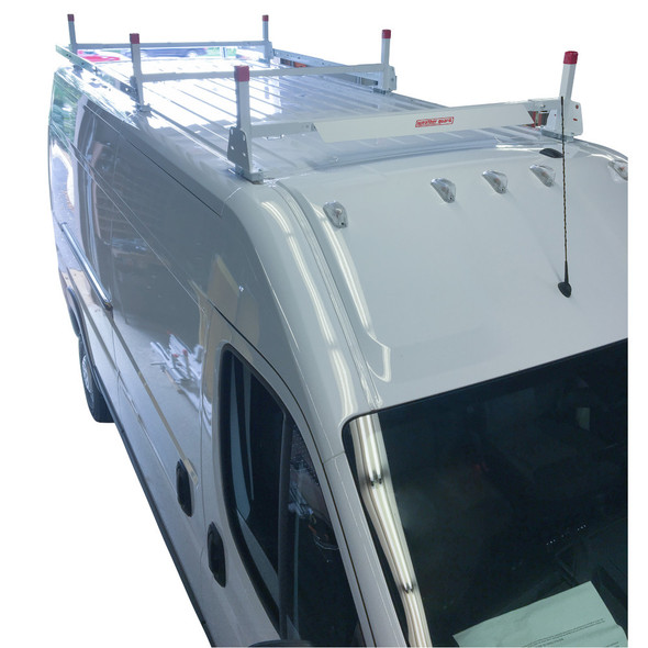 Weather Guard Model 21501-3-01 All-Purpose Steel Van Rack, 3-Bar | Full-sized Ford, MB, Nissan, Ram, Sprinter