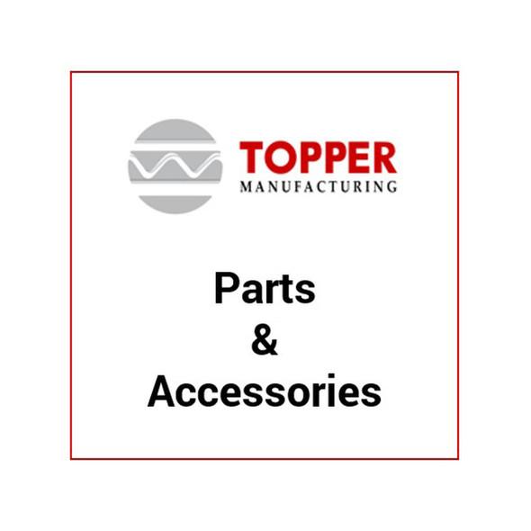 Topper 201130 Gutter Clip w/ paint protector - Full size & extended vans w/rain gutter mount