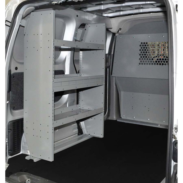 Adrian Steel #4961 - Base Starter Package w/ Steel Partition & 3-Shelf Unit, Gray, City Express, NV200